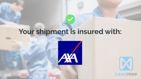 Your shipment is insured thanks to AXA